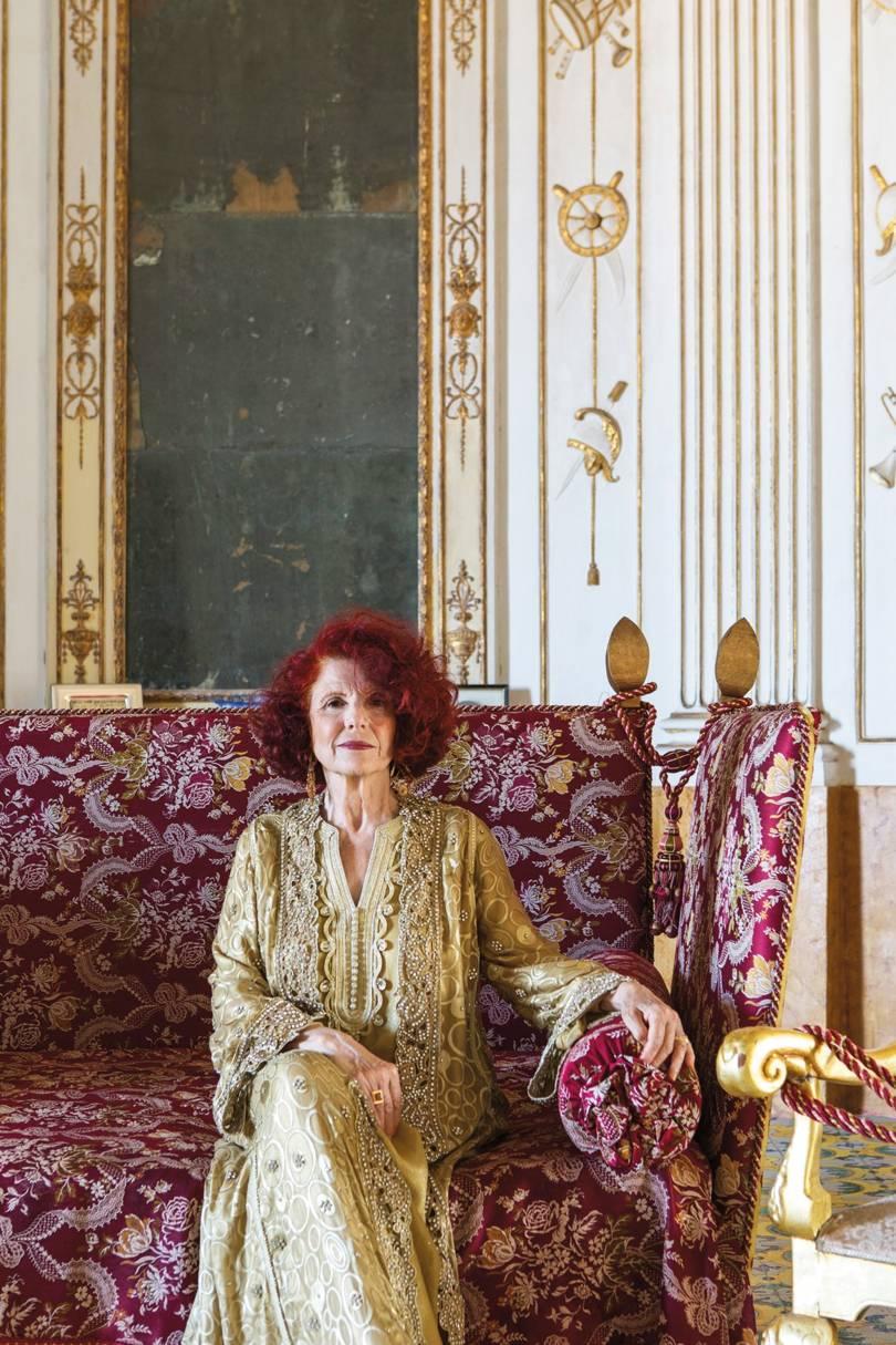 Princess Vittoria Alliata di Villafranca, owner of Villa Valguarnera, in Sicily