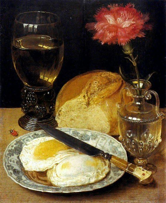 Georg Flegel (1566-1638) Still life with Carnation and Eggs 1600