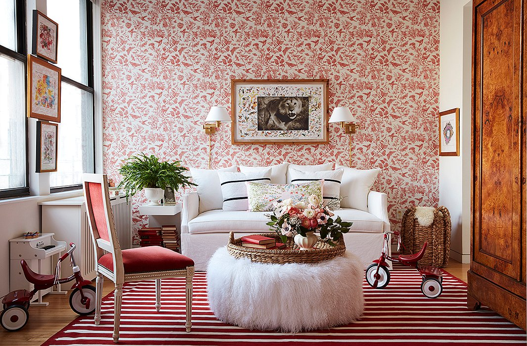 Zanna Roberts Rassi manhattan play room in red and white