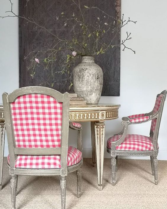brownrigg antiques gingham chair
