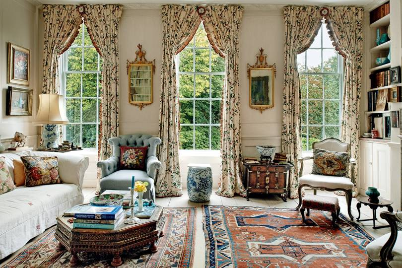 lady wakefield london home curtains in colefax and fowler