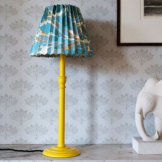 lamp and paper lampshade by Rosi de Ruig