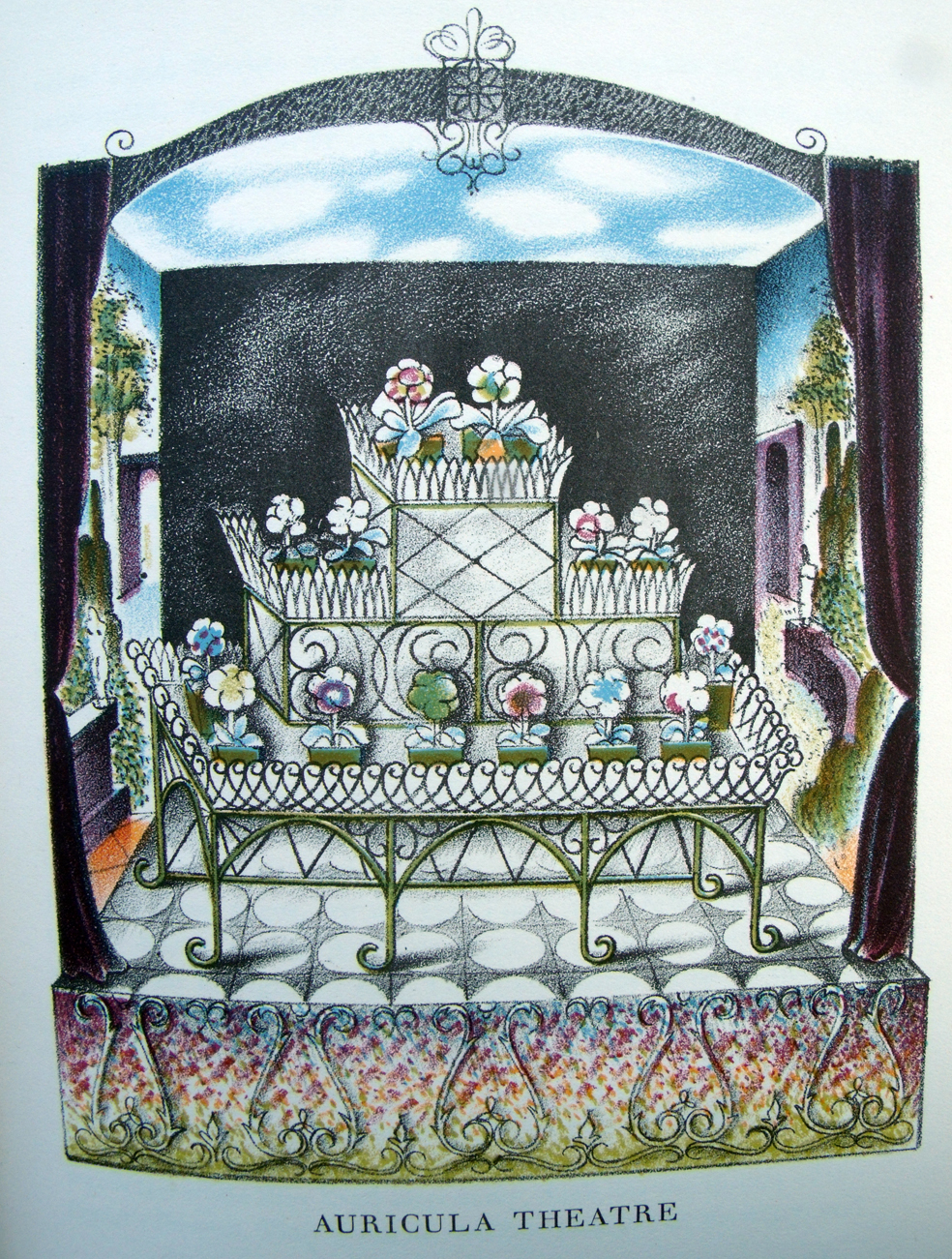 Auricula Theatre illustration by John Farleigh