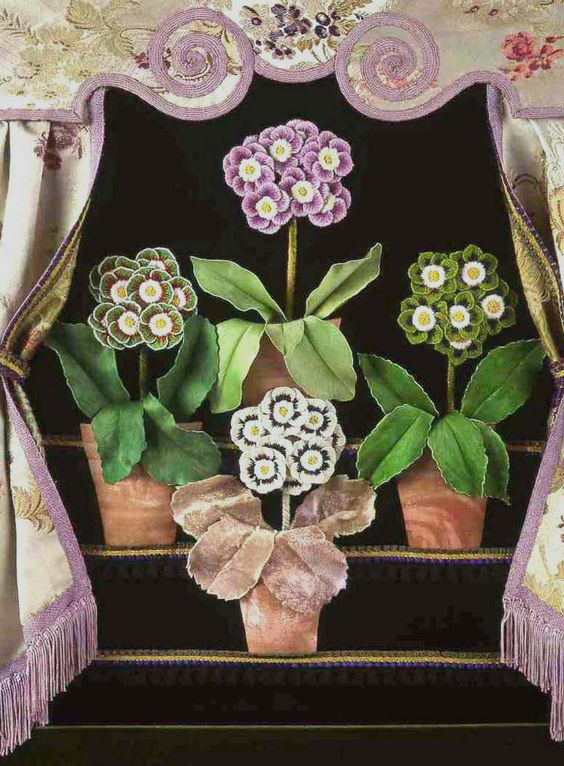 jane haigh embroidered auricula theatre