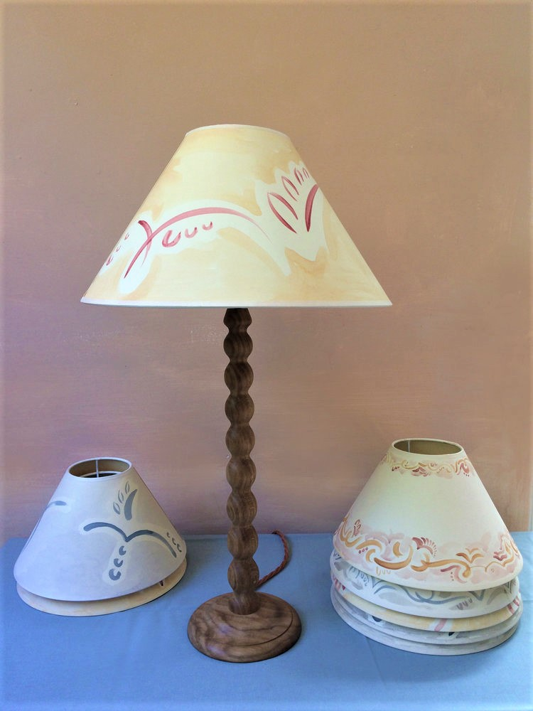 tess newall lampshades and alfred newall bobbin lamp