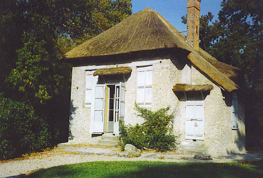 Sea shell thatched cottage at Rambouillet 1773