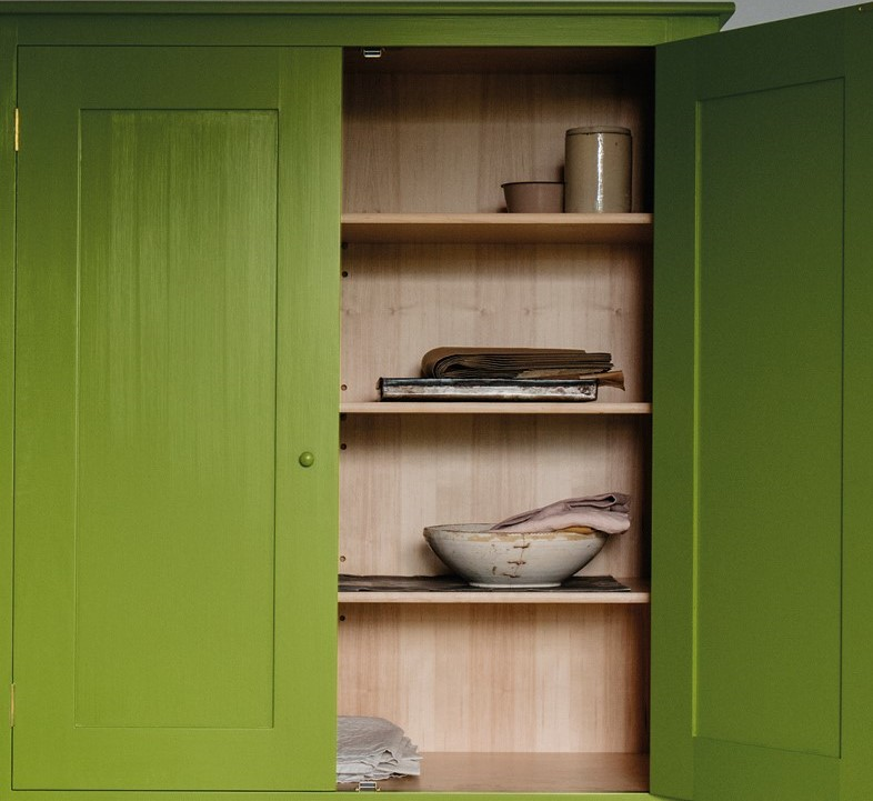 plain english green cabinet