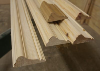 Pine Mouldings made to match exist historic room details. SA Spooner