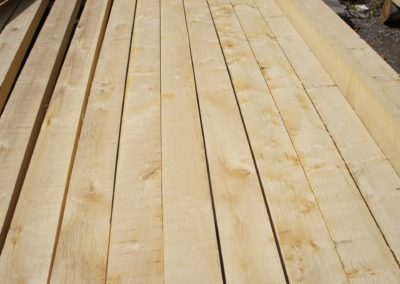The road deck material being vetted at the wood yard and cut to our specs, Furniture grade English Oak.  SASPOONER
