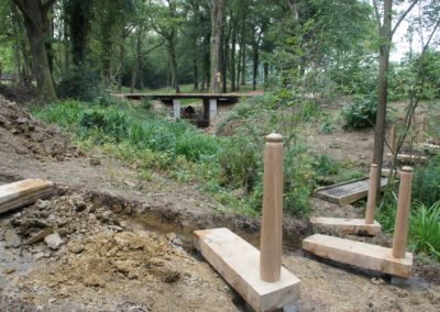 The steps being dug,levelled and concreted into place.  SASPOONER