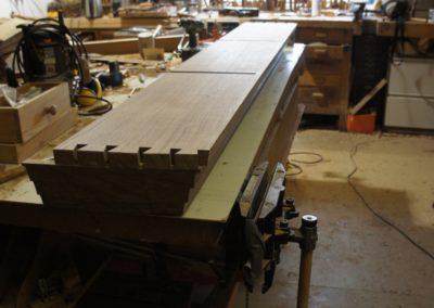 The plinth base unit showing moulded skirting detail.  SASPOONER