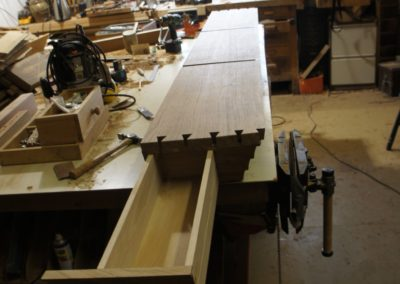The hidden drawer ,also dovetailed made in Oak with Cedarwood bottom.  SASPOONER