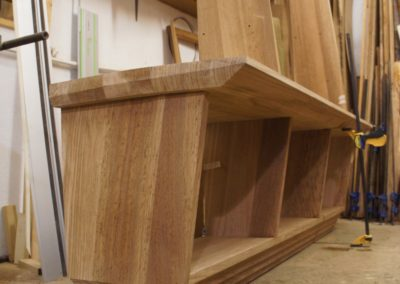 The base unit showing the grain pattern from use of solid timber.  SASPOONER