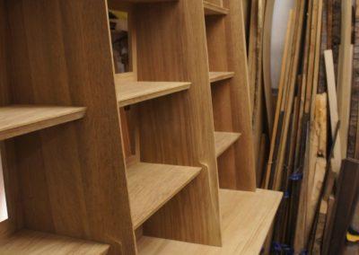 A close up of sculpted uprights . SASPOONER