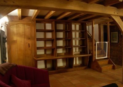 The Bookcase installed in its original position before S A Spooner was commissioned to remodel the room. SASPOONER