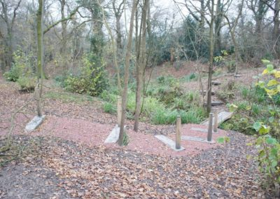 Finished step and post , now bedded in be the path material.  SASPOONER