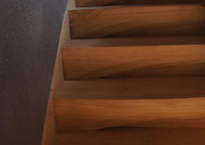 Contemporary Sculpted Cantilever Oak Staircase SASPOONER