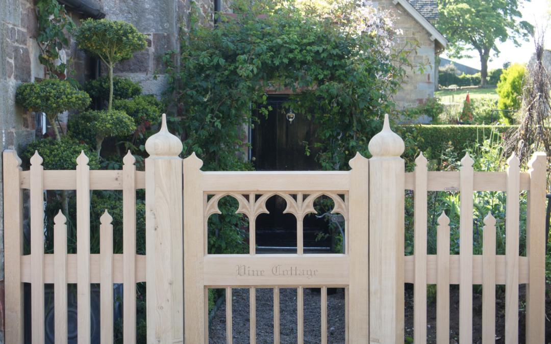 Vine Cottage Gothic Gate