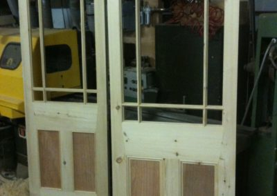 Ovolo scribed glazing bar on the Victorian  door.  SA Spooner