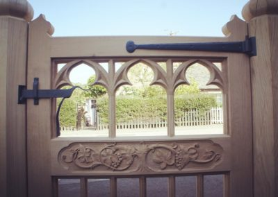 The private side of the gate set showing the layer of quality detail requested by the client. SASPOONER