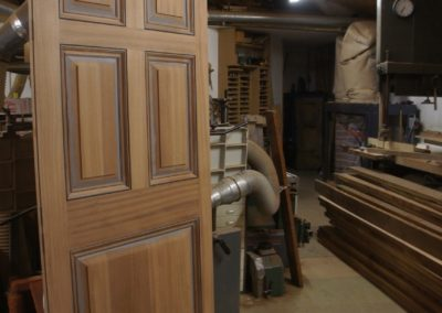 A 5 Panel door with raised and fielded panels made in Seaple.SASPOONER