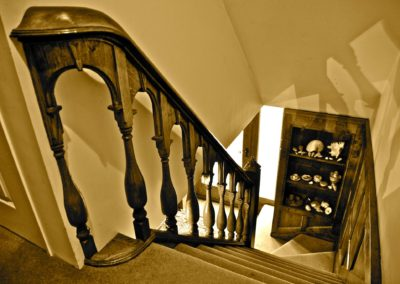 William and Mary Oak Staircase detailing a Wreath Handrail and period turn spindles  SASPOONER
