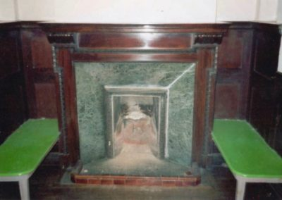 The original period surround that was ripped out and stolen.  S A Spooner