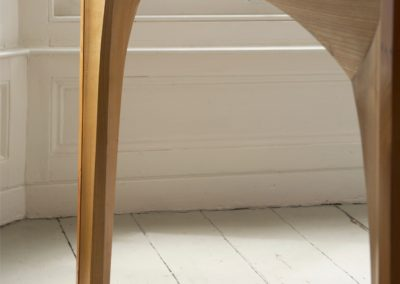 The visual strength of the table carries the softness of the locally grown timber .  SASPOONER