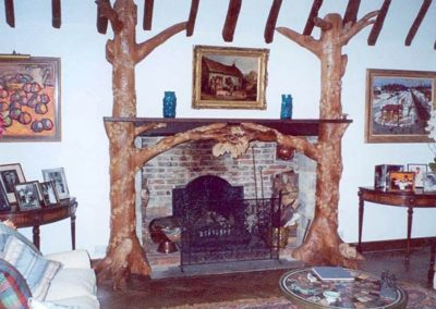 The fire surround was finished in oil and wax.SASPOONER