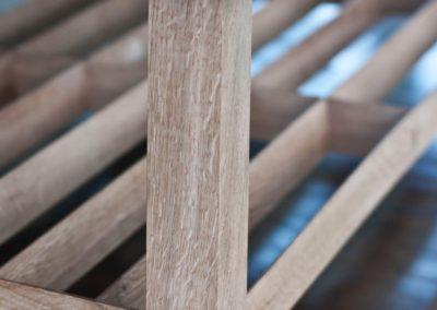View of the Quarter Sawn Oak  undercarriage lattice.  SASPOONER