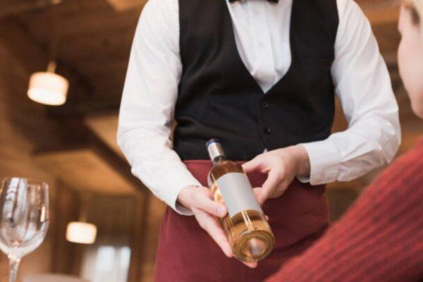 Wine Tasting Ritual At The Restaurant