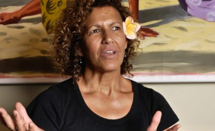 jocelyn cohen at cafe pesto during a when interview with david roy in waimea hawaii