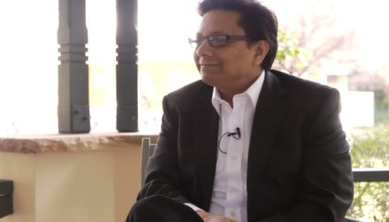 kamal sarma of rezilium during when interview with david roy in sydney australia