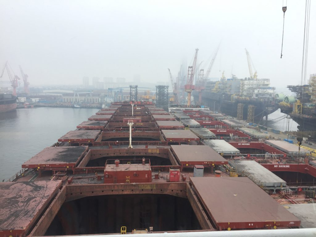A Cape Size Ship in China Dry Dock