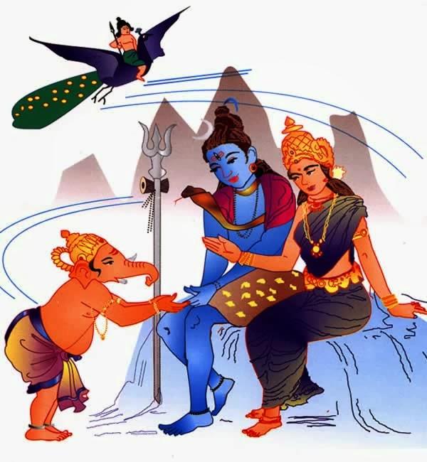 What is the Ganesh Kartikeya race correct story