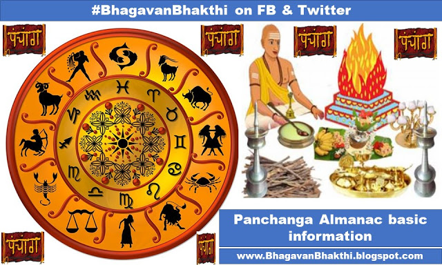 What is the Panchang (Almanac) basic information