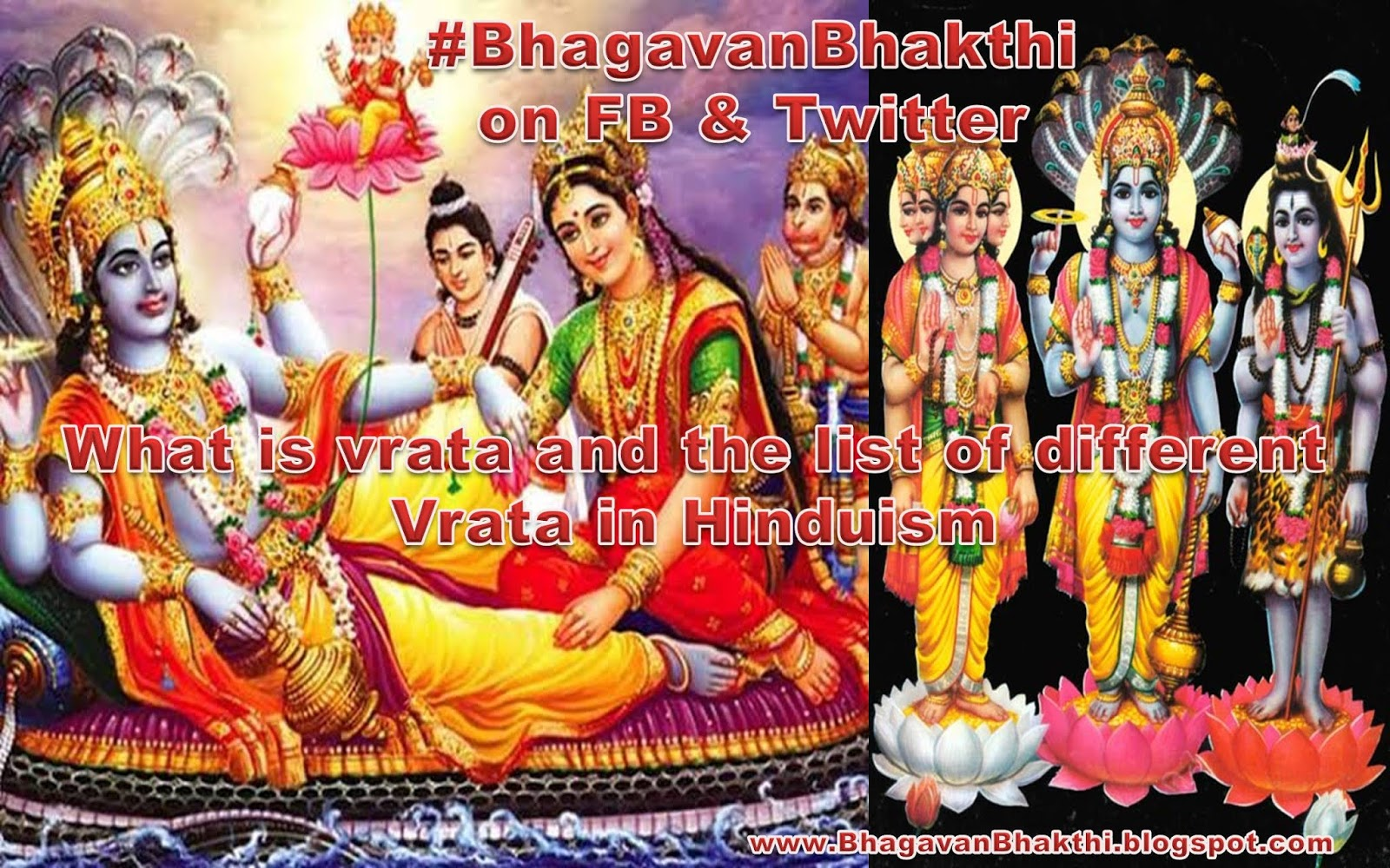 What are the list of Hindu vrat with correct explanation