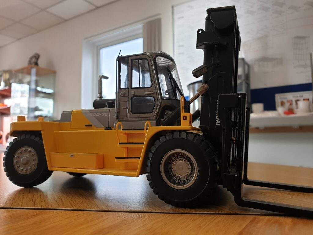 forklift training in classroom