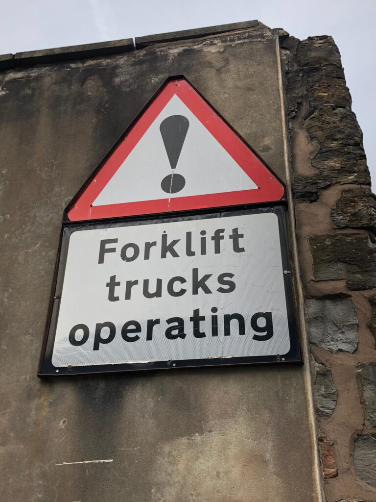 fork lift sign