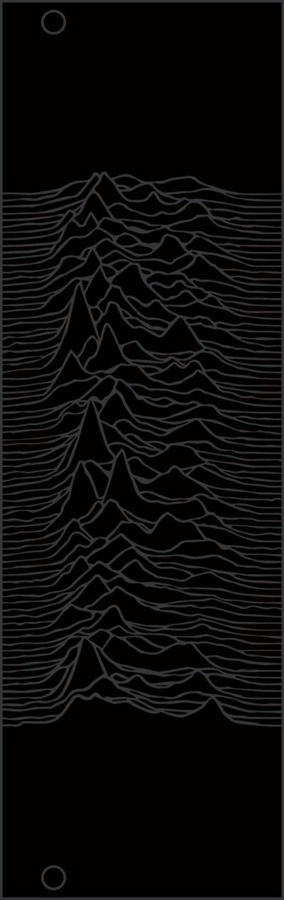 8hp Joy Division Unknown Pleasures panel, reverse silver