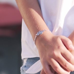 Children's Personalised Name Bracelet in Silver
