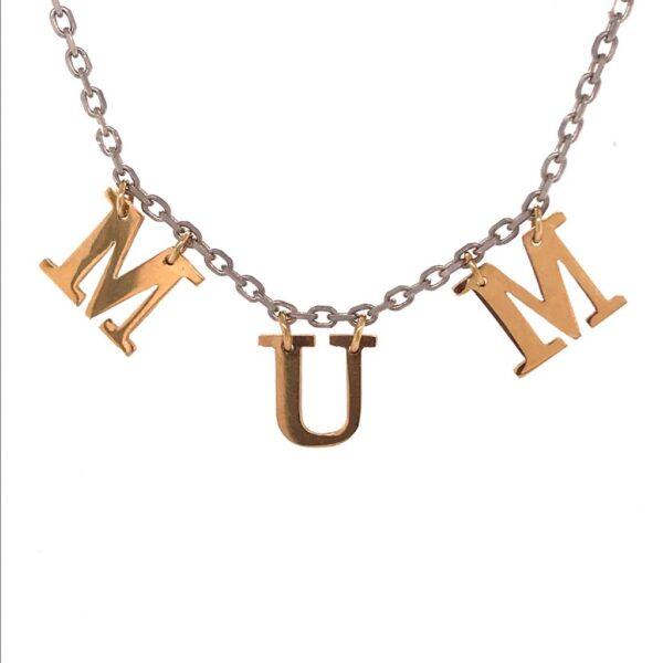 Mum Necklace Single Letters