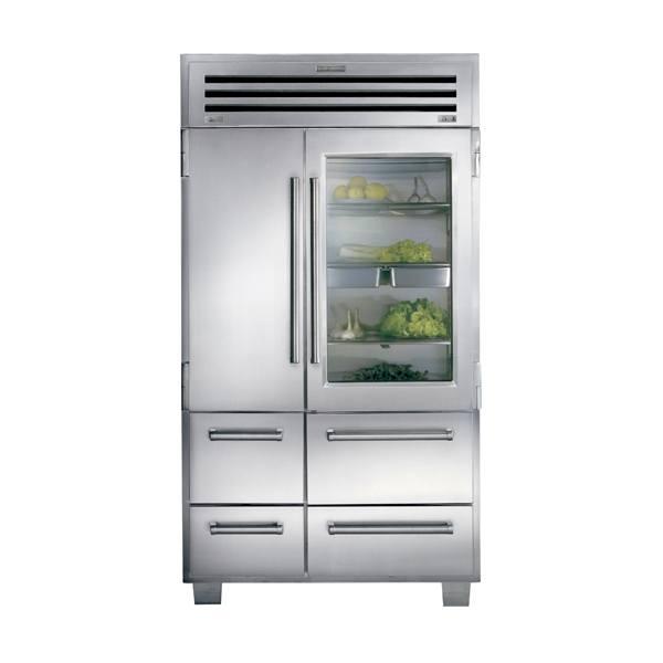 sub-zero ICB648PROG-side-by-side-refrigerator-freezer-with-glass-door