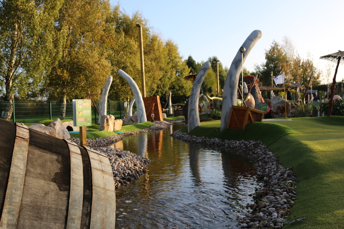Nottingham's Outdoor CrazyPutt Adventure Golf Course
