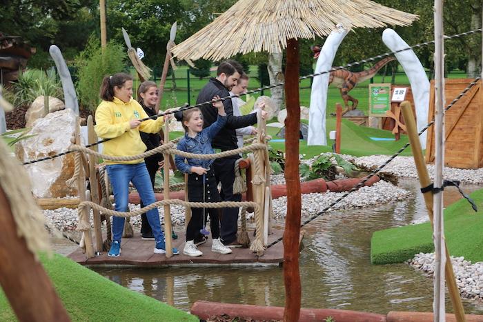 Family Fun in Nottingham Crazy Golf