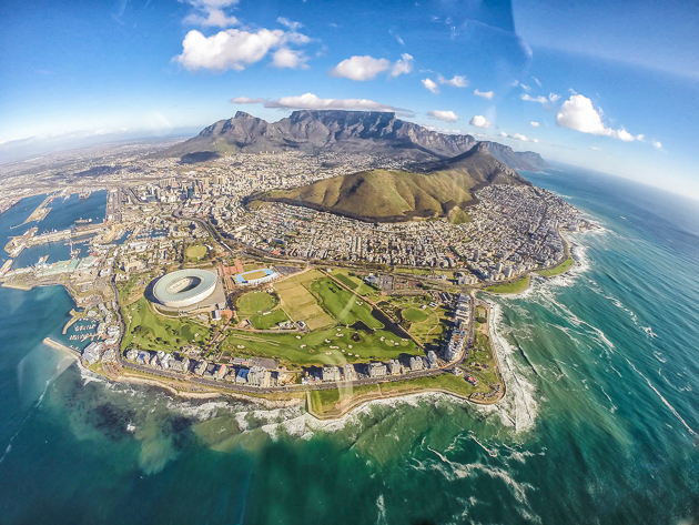 Bird's eye view of Cape Town