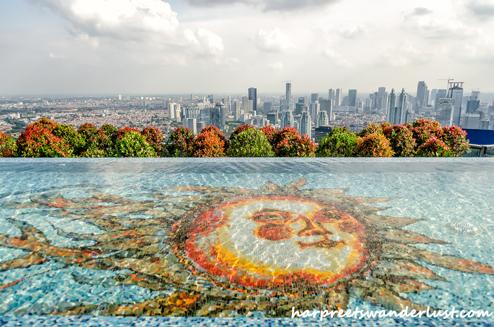 Skyline of Jakarta - from the Skye Bar