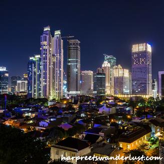 Skyline of Jakarta from Skye Bar