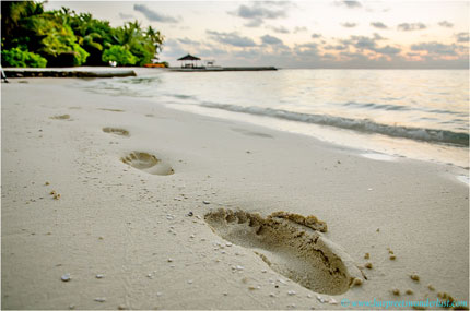 Footsteps in...The Maldives!