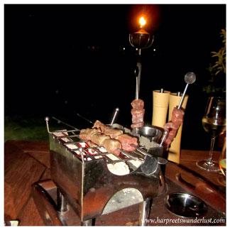 The table top bbq at Fudaan
